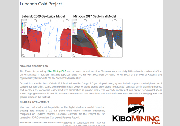 Lubando Gold Project