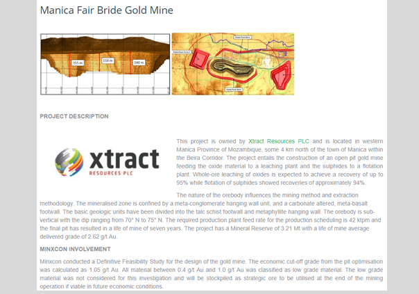Manica Fair Bride Gold Mine