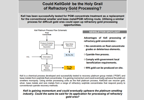 March 2018 Kellgold Refractory Gold Processing Minxcon Group